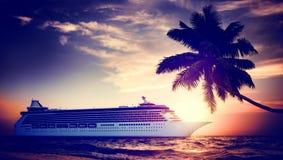 Yacht Cruise Ship Sea Ocean Tropical Scenic Concept Stock Photos