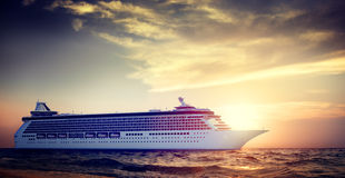 Yacht Cruise Ship Sea Ocean Tropical Scenic Concept Royalty Free Stock Photo