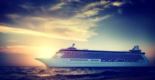 Yacht Cruise Ship Sea Ocean Tropical Scenic Concept Stock Photography