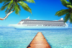 Yacht Cruise Ship Sea Ocean Tropical Scenic Concept Royalty Free Stock Photography