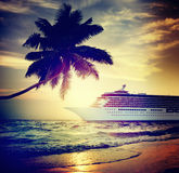 Yacht Cruise Ship Sea Ocean Tropical Scenic Concept Stock Images