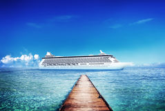 Yacht Cruise Ship Sea Ocean Tropical Scenic Concept Royalty Free Stock Images