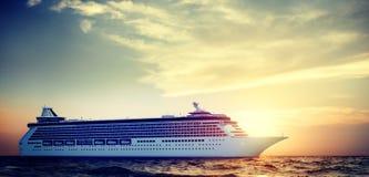 Yacht Cruise Ship Sea Ocean Tropical Scenic Concept Royalty Free Stock Photography