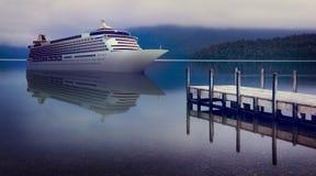 Yacht Cruise Ship Sea Ocean Tropical Scenic Concept Stock Image