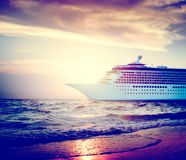 Yacht Cruise Ship Sea Ocean Tropical Scenic Concept Royalty Free Stock Image