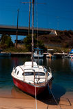 Yacht cruiser located at Chalkidiki Stock Images