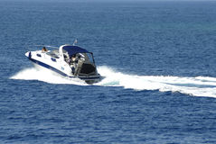 Yacht cruising Stock Photography