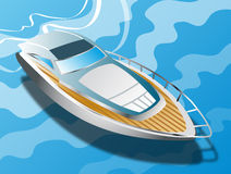 Yacht on the crystalline. Stock Images