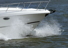 Yacht a curva Foto de Stock Royalty Free