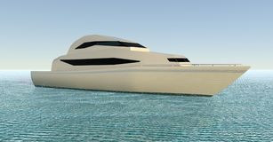 Yacht. 3D illustration. Yacht in the ocean. 3D illustration Royalty Free Stock Photography