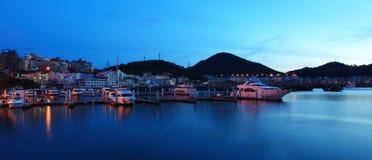 Yacht de baie de Sanya Photographie stock