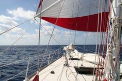 Yacht de chemin photo stock