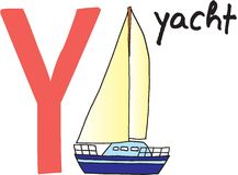 yacht de la lettre y Photos stock