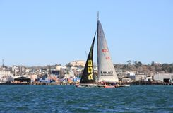 Yacht de la voile NZ sous la voile Photo stock