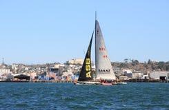 Yacht de la voile NZ sous la voile Photo stock