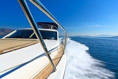 Yacht de luxe de moteur images stock