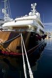 Yacht de luxe en bois Photographie stock