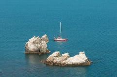 Yacht de marche Images libres de droits