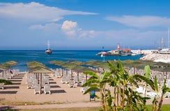 yacht de marche de mer Photographie stock