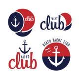 Yacht de navigation de logo de vecteur Images stock