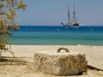 Yacht de plaisir à la Mer Rouge, Eilat, Israël Images libres de droits