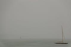 yacht de pluie Image stock