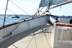 Yacht deck Stock Photo