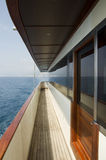 Yacht deck. The side view of a luxury yacht deck Royalty Free Stock Images