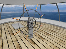 Yacht deck Royalty Free Stock Photo