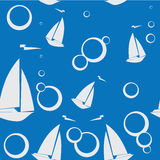 Yacht del modello su fondo blu Immagine Stock Libera da Diritti