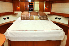 Yacht della camera da letto Immagine Stock