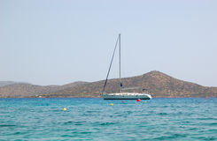 Yacht della vela di ricreazione Fotografia Stock Libera da Diritti