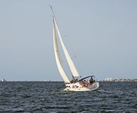 Yacht an dem Mrz Menor Stockfotos