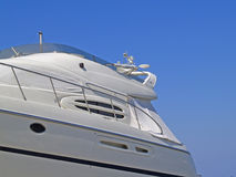 Yacht detail. On show boat Stock Photo