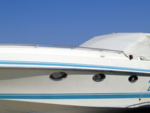 Yacht detail. Closeup and a piece of sky Stock Photography