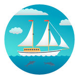 Yacht Detailed Illustration Stock Photography