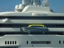 Yacht di eclissi Fotografia Stock