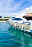 Yacht di lusso al porto Fotografie Stock