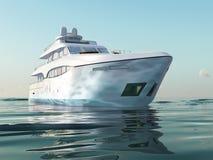 Yacht di lusso su acqua Fotografie Stock Libere da Diritti