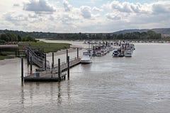 Yacht di lusso su The Creek Fotografia Stock