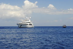 Yacht di lusso in Zacinto Immagine Stock Libera da Diritti