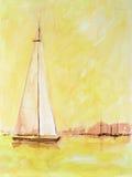 Yacht di navigazione Immagini Stock