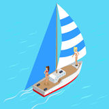 Yacht di navigazione da diporto con il concetto sexy delle ragazze del top-model Fotografie Stock