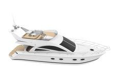 Yacht di piacere bianco illustrazione di stock