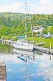 Yacht at Dochgarroch. Royalty Free Stock Photography