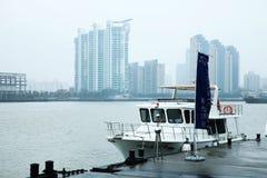Yacht at the dock Stock Photos