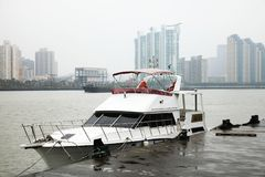 Yacht at the dock Stock Image