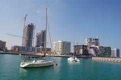 Yacht in Doubai Fotografia Stock Libera da Diritti