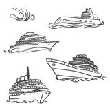 Yacht drawing symbols Stock Photography
