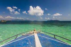 Yacht drifting at the coast of the tropical island. Koh Chang Royalty Free Stock Photo